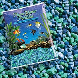 Pure Water Pebbles Nature's Ocean Aquarium Gravel Blue Lagoon Gravel 5-lb