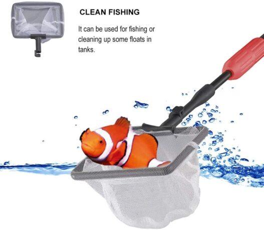 UPETTOOLS Aquarium Cleaning Tool 6 in 1 Fish Tank Cleaning Kit Algae Scraper Scrubber Pad Adjustable Long Handle Fish Tank Brush Cleaner Set