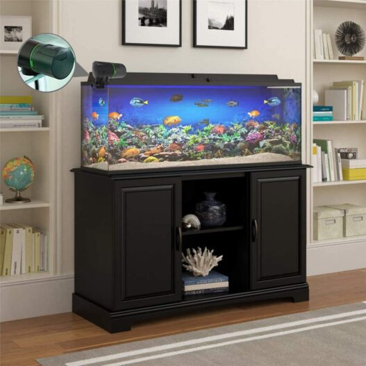 TOPBRY Automatic Fish Feeder, Digital Auto Fish Turtle Feeder for Aquarium and Fish Tank, Timer Fish Feeder Fish Food Dispenser