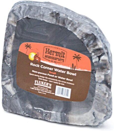 Fluker's Corner Rock Food & Water Bowl for Hermit Crabs