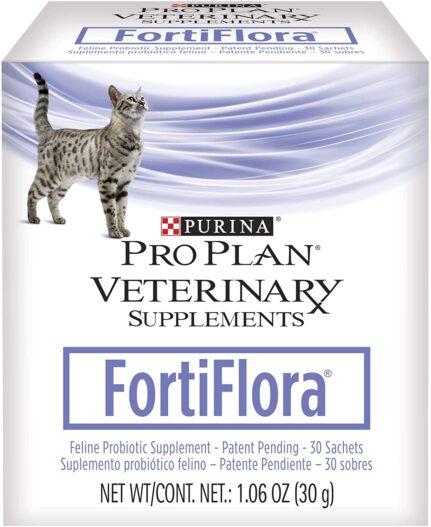 Purina FortiFlora Cat Probiotic Powder Supplement, Pro Plan Veterinary Supplements Probiotic Cat Supplement
