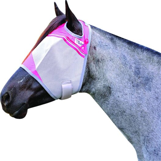 Cashel Crusader Standard Fly Mask with Pink Trim, Benefits Breast Cancer - Size: Arab/Cob/Small Quarter Horse