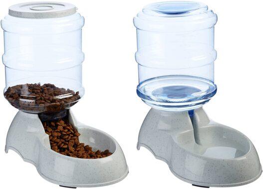 AmazonBasics Gravity Pet Food Feeder and Water Dispensers