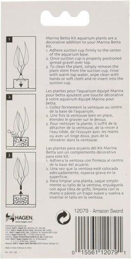 Marina Betta Kit Plastic Plant, Amazon Sword
